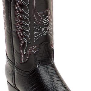 DURANGO Kid's Black Lizard Print Western Boots BT840