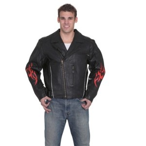 DEALER LEATHER Mens Leather Jacket With Multi Pockets MJ781-01