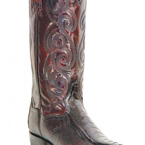 "DAN POST "" Men's "" Bellevue "" Glazed Ostrich Black Cherry Cowboy Boots DP26629"