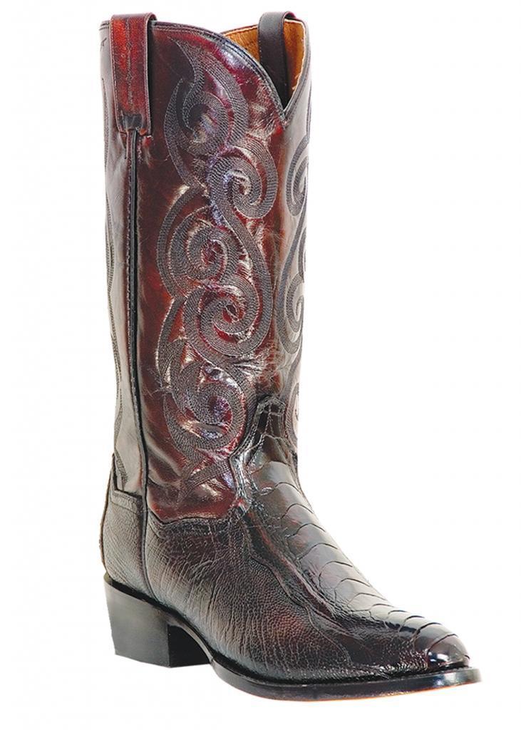 "3428143b1e5 DAN POST "" Men's "" Bellevue "" Glazed Ostrich Black Cherry Cowboy Boots  DP26629"