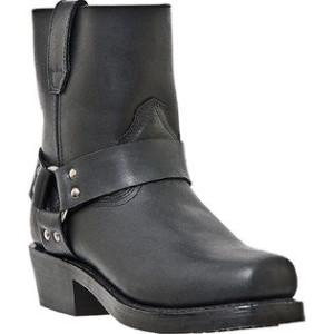 """DINGO """" REV UP """" Short Harness Side Zipper Black Boots DI19090"""