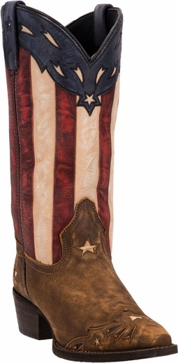 LAREDO Women's Keyes 12″ Stars & Stripes & Tan Boot 52165