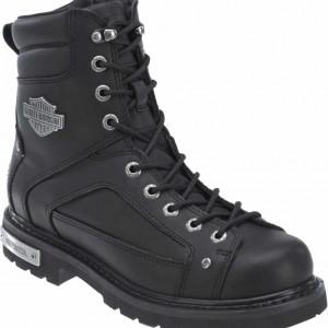 Harley-Davidson® Men's Abercorn 7-Inch Black Motorcycle Lace Boots. D93340
