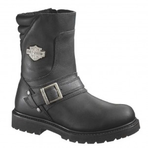 Harley-Davidson® Men's Booker Front Strap 8.25-Inch Motorcycle Boots D95194